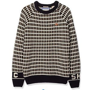 NWOT Scotch & Soda Boys Crewneck Woven Sweater